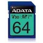 Adata 64GB Premier Pro SDXC UHS-I U3 Classe 10 V30