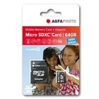AgfaPhoto 64GB MicroSDXC Class 10 + Adattatore