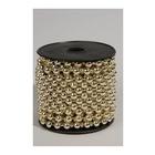 Amicasa Kaemingk Collana di perline Plastica Natale Oro