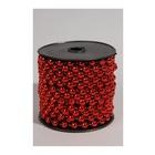 Amicasa Kaemingk Collana di perline Plastica Natale Rosso