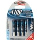 Ansmann 1x4 Batteria NiMH Micro 1100 mAh