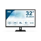 "AOC Essential-line Q32E2N LED 31.5"" 2K Ultra HD 75Hz Nero"