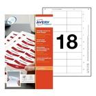 AVERY 6530 Bianco Etichetta per stampante non adesiva