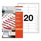 AVERY 7527 Bianco Etichetta per stampante non adesiva