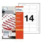 AVERY 7537 Etichetta per stampante non adesiva