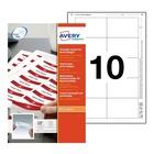 AVERY 8554 etichetta per stampante Bianco Etichetta per stampante non adesiva