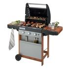 Campingaz 3 Series RBS 3 Series Woody L 9600 W Barbecue Gas Zona cottura Nero, Grigio