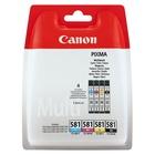 Canon CLI-581 Multipack cartuccia d'inchiostro Original Nero, Ciano, Magenta, Giallo