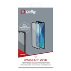 CELLY FULLGLASS998BK Pellicola proteggischermo trasparente per iPhone XR