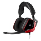 Corsair VOID ELITE SURROUND Cuffie Stereofonico Gaming Nero, Rosso