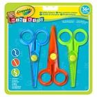 Crayola Mini Kids - 3 Safety scissors Taglio dritto Multicolore