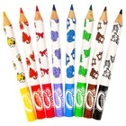 Crayola Mini Kids - 8 Jumbo Decorated Pencils pastello colorato 8 pezzo(i) Multi