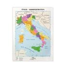CWR 09343 mappa geografica da parete Italia