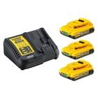 DeWalt DCB115D3 Kit 3 batterie 18 V 2 Ah + caricabatteria