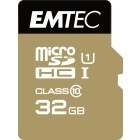 EMTEC 32GB Micro SDHC CL.10 Gold Plus U1 + adattatore