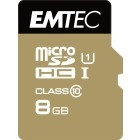 EMTEC Micro SDHC 8GB CL.10 Gold plus U1 + adattatore