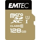EMTEC 128GB Micro SDXC CL.10 Gold Plus U1 + adattatore