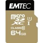 EMTEC Micro SDXC 64GB CL.10 Gold Plus U1 + adattatore
