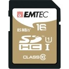 EMTEC SDHC 16GB CL.10 Gold Plus 85Mb/24Mb U1