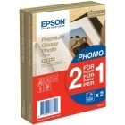 Epson 2x 40 Premium Glossy Photo Paper 10x15 cm, 255 g