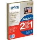 Epson Premium Glossy carta fotografica A4 2x15 fogli