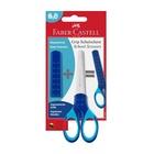 Faber Castell 181549 Forbici da cancelleria Taglio a zig zag Blu