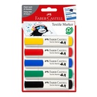 Faber Castell Faber-Castell 159520 marcatore permanente Nero, Blu, Verde, Rosso, Giallo Punta smussata 5 pezzo(i)