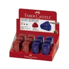 Faber Castell Faber-Castell 182711 temperino Blu, Rosso