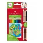 Faber Castell Faber-Castell 201744 pastello colorato 15 pezzo(i) Multicolore