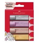 Faber Castell Faber-Castell TL 46 evidenziatore 4 pezzo(i) Oro, Rosa, Rosa, Argento