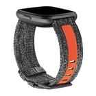 FitBit FB171WBGYTAL Cinturino in tessuto riflettente Large per Versa - Antracite, Arancione