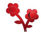 FOPPAPEDRETTI Appendifiore appendiabiti Montabile a parete 2 gancio(i) Rosso