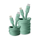 FRESH 'N REBEL 2CLC300MM cavo per cellulare Verde USB C Lightning 3 m