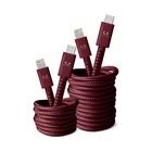 FRESH 'N REBEL 2CLC300RR cavo per cellulare Rosso USB C Lightning 3 m