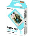 Fujifilm 10 Pellicole Instax Mini Bordo Celeste