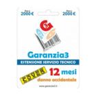 Garanzia 3 Cover 12 Mesi Massimale 2000 € Contro Danni Accidentali