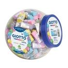 Giotto Pastel gomma per cancellare Elastomero Termoplastico (TPE) Verde, Giallo, Blu, Rosa, Viola 120 pezzo(i)