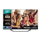 "HISENSE 55A72GQ 54.6"" 4K Ultra HD Smart TV Wi-Fi Nero, Grigio"