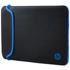 Hp 14 Black/Blue Neoprene Sleeve