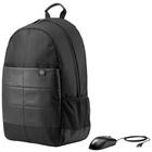 """Hp 15.6"""" Classic Backpack & Mouse zaino Nylon Nero"""
