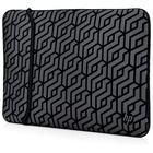 "Hp Reversible Neoprene Sleeve borsa per notebook 14"" Nero, Grigio"