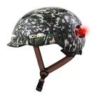 ICON.E Helmet Air Verde Militare Casco con Luce Led USB integrata