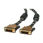 ITB ROLINE 11.04.5511 cavo DVI 1 m DVI-D Nero, Oro