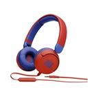 JBL Jr310 Cuffia 3.5 mm Blu, Rosso