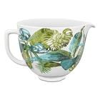 Kitchenaid Ciotola in ceramica in titanio rinforzato da 4,7 lt con beccuccio 5KSM2CB5PTFC colore Motivo Flor fiori