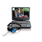 """Lenco DVP-910 Portable DVD player Convertibile 9"""" Nero, Blu"""