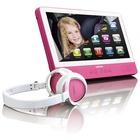 """Lenco TDV-901 Portable DVD player Da tavolo 9"""" Rosa"""
