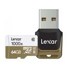 Lexar 64GB microSDXC U3 Classe 10 UHS-II 1000X + Lettore USB