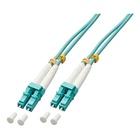 LINDY 1.0m OM3 LC Duplex cavo a fibre ottiche 1 m Turchese