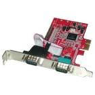 LINDY 3-Port PCIe Serial/Parallel Card scheda di interfaccia e adattatore
